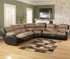 Sectional Sofa With Recliner Ashley Furniture Presley Cocoa 3 Piece Sectional Sofa With
