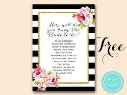 to be cards free bridal shower gold and hot pink bridal shower
