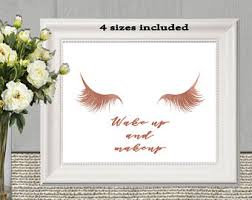 Rose Gold Home Decor by Rose Gold Wall Art Etsy