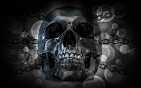 wallpaper metallic skull by thedamdambw12 on deviantart