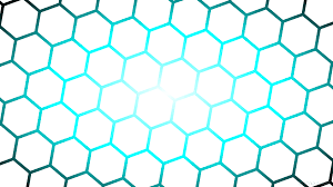 wallpaper glow hexagon blue gradient black white ffffff ffffff