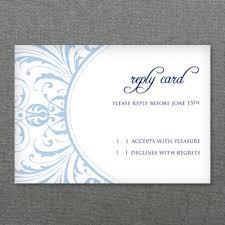rsvp cards wedding deco scroll wedding rsvp card template print