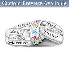 mothers ring with names mothers ring with names and birthstones a mothers embrace