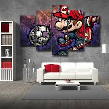 super mario sketch hip hop 5pc wall art posters canvas prints