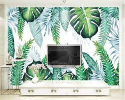 palm tree comforter promotion shop for promotional palm tree beibehang modern 3d wallpaper hand painted tropical plant leaves background wall mural custom made 3d wallpaper of any size