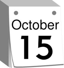 october calendar date clip at clker vector clip