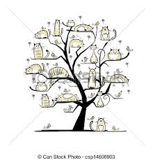 at family tree for your design vector clipart search