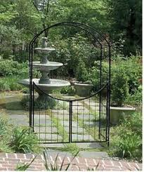 wedding arbor ebay wedding arbor garden with gate arch archway gateway trellis 7