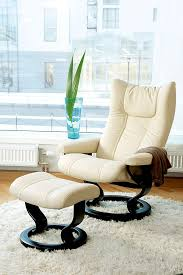 Office Chair And Ottoman Stressless Wing Chair Ottoman Classic Base The Century House