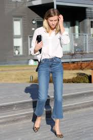Flared High Waisted Jeans Spring Denim Trends Cropped Flares Are The Must Have Jeans For