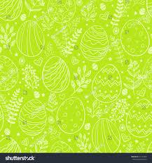 seamless easter pattern ornamental eggs easter stock vector