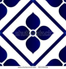 seamless porcelain indigo blue white simple stock vector 682912399
