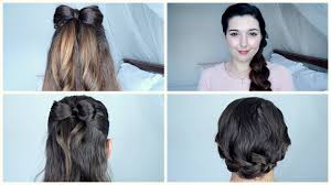 simple valentines day hairstyles for short or long hair youtube