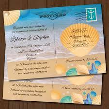 postcard wedding invitations seaside postcard wedding invitation elisa by design