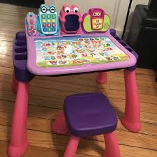 vtech activity table deluxe find more vtech touch and learn activity desk deluxe pink for sale