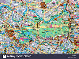 Berlin Germany Map by Close Up Of A Map Of Berlin City Centre Germany Stock Photo