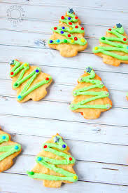 christmas tree sugar cookies momdot