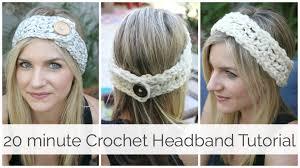 crochet hairband how to crochet a headband in 20 minutes tutorial
