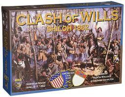 amazon com clash of wills shiloh 1862 board game toys u0026 games