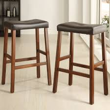 24 Inch Bar Stools With Back Furniture Brown With One Tufted 24 Inch Bar Stools For Minimalist