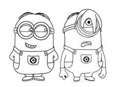 minions coloring pages photo black white pictures