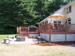 Deck With Patio by Deck U0026 Patio Combinations