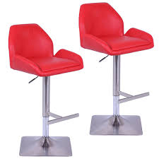 furniture comfortable red leather walmart stools with stainless