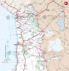Map Chile Northern Chile Tourist Map Chile U2022 Mappery