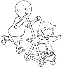 caillou coloring pages sarah playing flute coloringstar