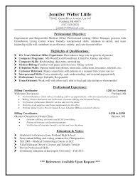 Dental Assistant Description For Resume Medical Office Resume U2013 Inssite