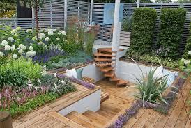 Deck Landscaping Ideas Garden Design Garden Design With Natural Raised Deck Landscaping
