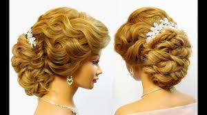 bridal updo wedding hairstyle for long hair tutorial makeup videos