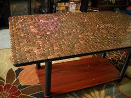 Pictures For My Living Room by A Penny Covered Table For My Living Room Glue U0027em Down And Add