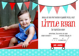 2nd Birthday Invitation Card Daily Dimples Ryan U0027s 1st Birthday Invitation
