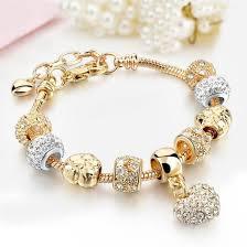 crystal gold bracelet images Mothers crystal gold bracelet imperial charms jpg