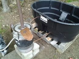 homesteader wood fired tub 5 steps