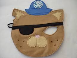 Octonaut Halloween Costume Octonauts Kwazii Inspired Felt Mask Fancy Mummyhughesy Etsy