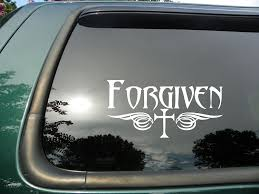 jeep bumper stickers amazon com forgiven tribal cross die cut christian vinyl window