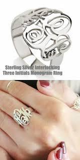 Monogram Rings Silver Alison U0026 Ivy Classic Cigar Band Monogram Ring 18mm Alison