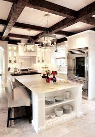 white kitchen cabinets with wood beams white kitchen with exposed wood beams home kitchens
