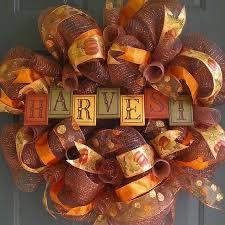Fall Homemade Decorations - fall deco mesh wreath ideas diy decorations wreath embelishments