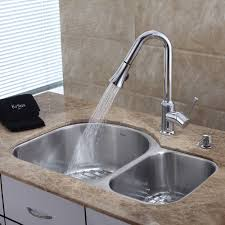 kitchen sink and faucet ideas kitchen faucet with soap dispenser set kraususa 14 from kitchen sink