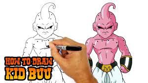 draw kid buu dragon ball