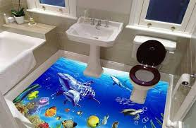 3d bathroom flooring best catalog of 3d floor art and 3d flooring murals