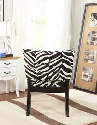 zebra accent chairs in large back chair and high wooden legs