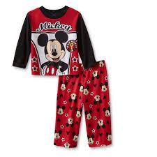 disney mickey mouse infant toddler boy s pajamas team mickey