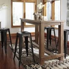 Rustic Bar Table Dining Sets Bar Height