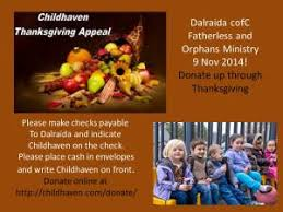 childhaven thanksgiving appeal help orphans sipper books