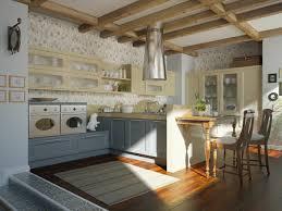 fantastic ceiling wooden beam design for stunning gray kitchen