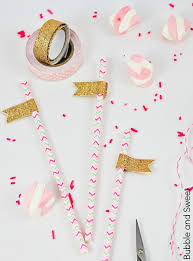 bubble and sweet all that glitters party straws diy budget